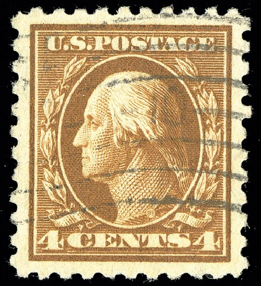 Costs of US Stamps Scott Cat. 465 - 4c 1916 Washington Perf 10. Spink Shreves Galleries, May 2014, Sale 148, Lot 319