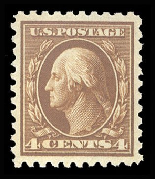 Prices of US Stamp Scott Catalogue # 465 - 1916 4c Washington Perf 10. Cherrystone Auctions, May 2013, Sale 201305, Lot 120