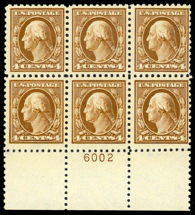 US Stamp Prices Scott Catalogue #465 - 1916 4c Washington Perf 10. Daniel Kelleher Auctions, Apr 2013, Sale 636, Lot 361
