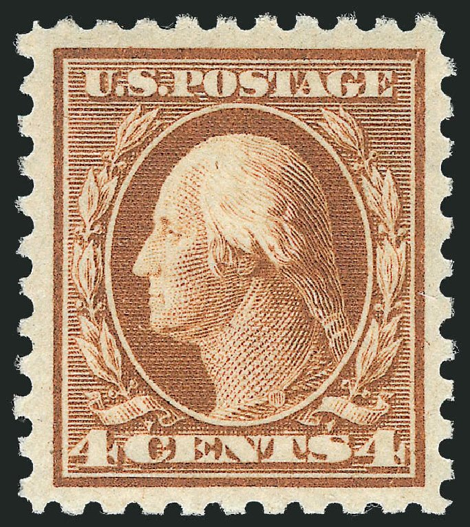 Price of US Stamps Scott Catalogue 465: 1916 4c Washington Perf 10. Robert Siegel Auction Galleries, Dec 2014, Sale 1090, Lot 1531