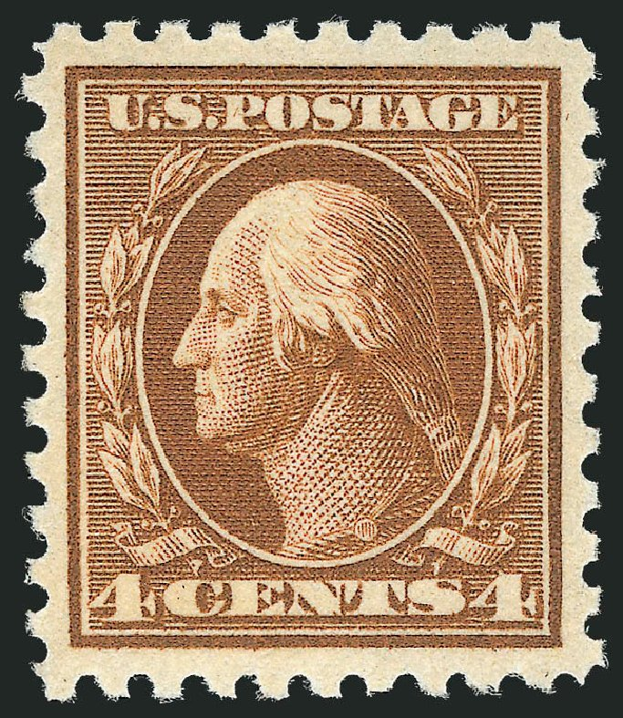 Cost of US Stamps Scott Catalog #465: 1916 4c Washington Perf 10. Robert Siegel Auction Galleries, Nov 2013, Sale 1061, Lot 3944