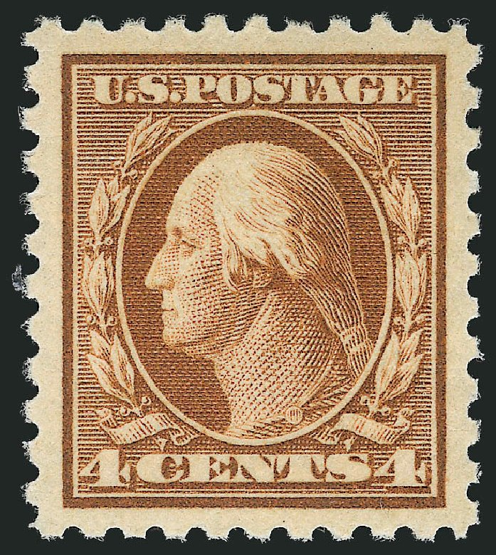 US Stamp Price Scott Catalogue #465: 4c 1916 Washington Perf 10. Robert Siegel Auction Galleries, Dec 2013, Sale 1062, Lot 664