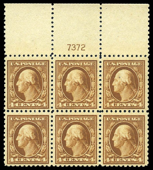 Prices of US Stamps Scott Cat. 465 - 4c 1916 Washington Perf 10. Matthew Bennett International, May 2014, Sale 350, Lot 612