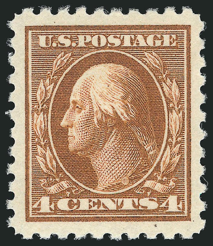 Prices of US Stamp Scott Catalogue 465: 4c 1916 Washington Perf 10. Robert Siegel Auction Galleries, Feb 2015, Sale 1093, Lot 383