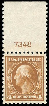 Prices of US Stamp Scott Catalog # 465 - 1916 4c Washington Perf 10. Schuyler J. Rumsey Philatelic Auctions, Apr 2015, Sale 60, Lot 2826