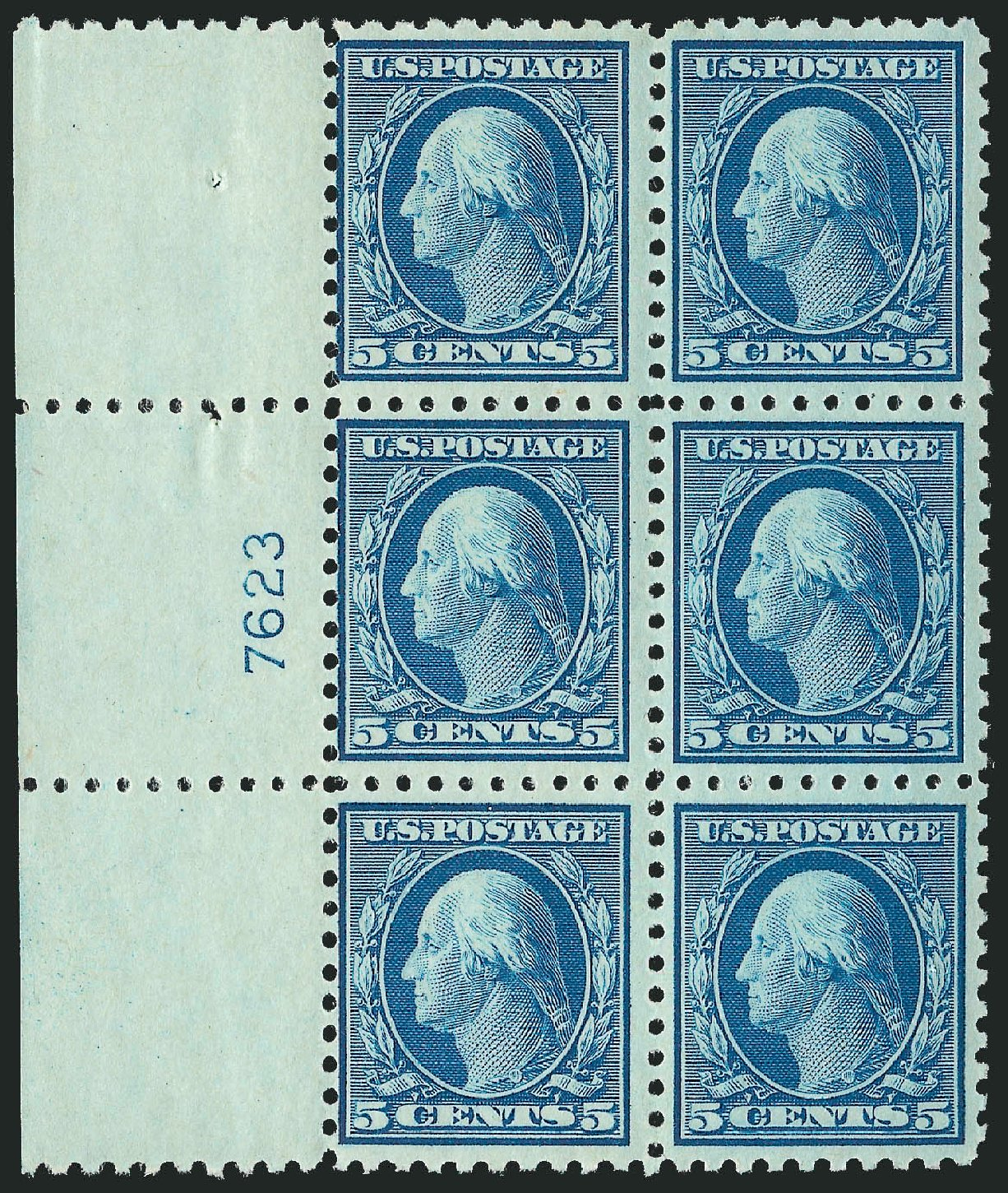 Price of US Stamp Scott # 466: 1916 5c Washington Perf 10. Robert Siegel Auction Galleries, Jul 2014, Sale 1077, Lot 281