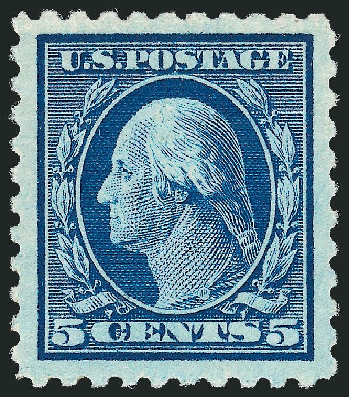 Price of US Stamps Scott Cat. # 466 - 1916 5c Washington Perf 10. Robert Siegel Auction Galleries, Dec 2013, Sale 1062, Lot 665