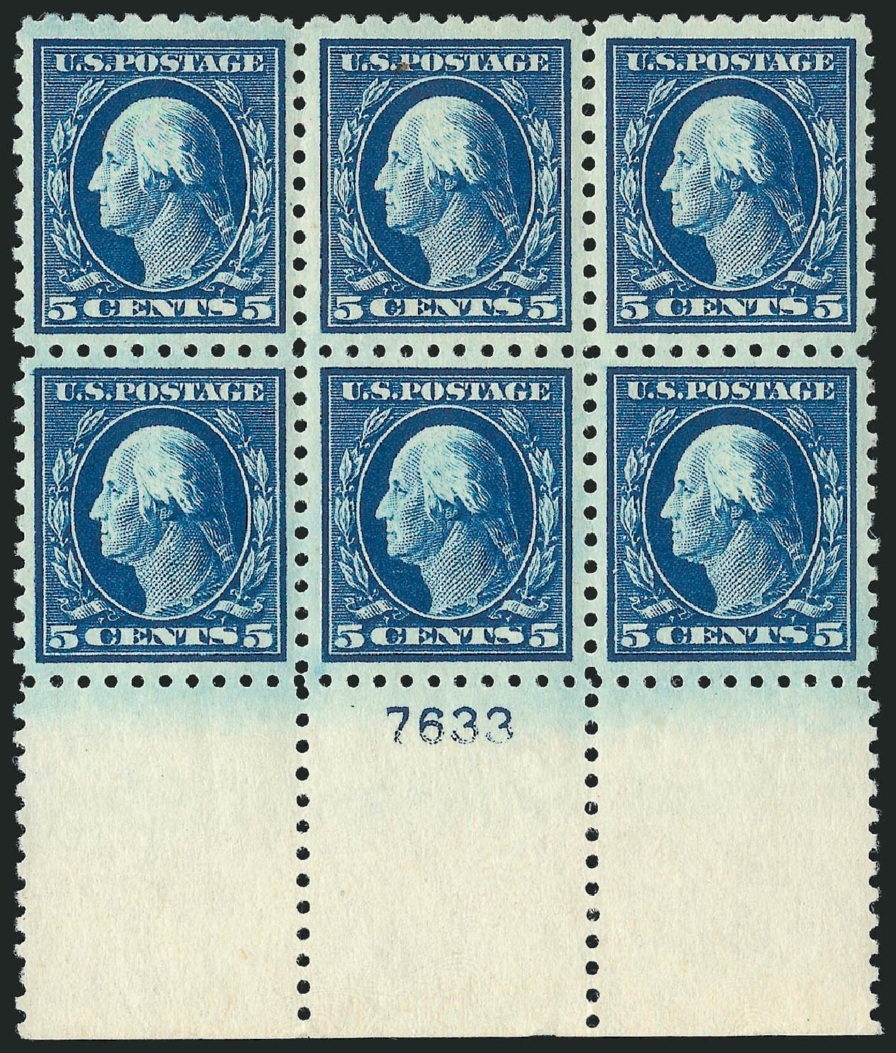 Cost of US Stamps Scott Catalog #466 - 1916 5c Washington Perf 10. Robert Siegel Auction Galleries, Feb 2015, Sale 1093, Lot 385