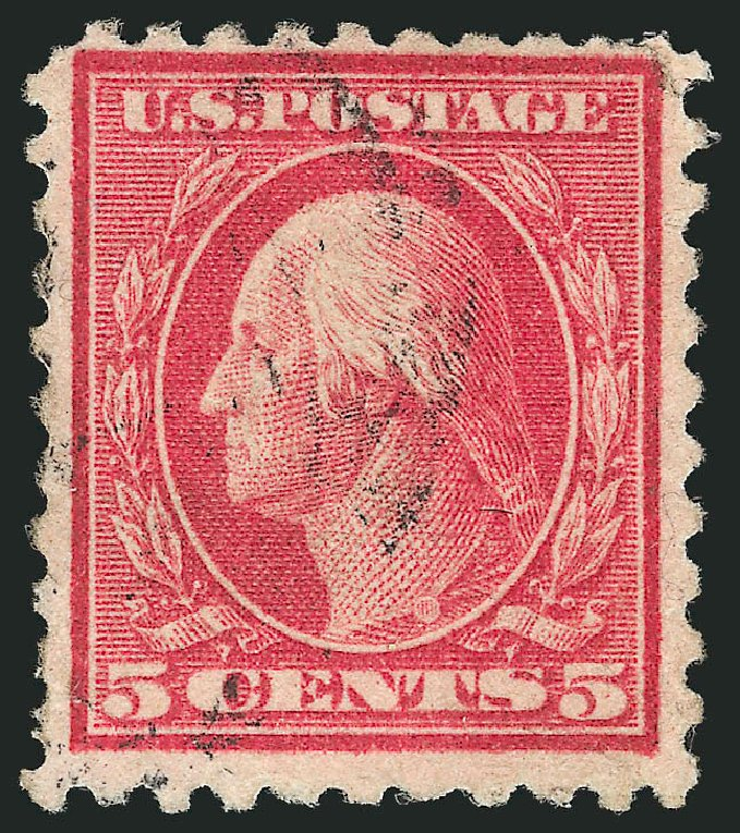 Cost of US Stamp Scott Cat. #467: 1917 5c Washington Perf 10 error. Robert Siegel Auction Galleries, Apr 2015, Sale 1096, Lot 717