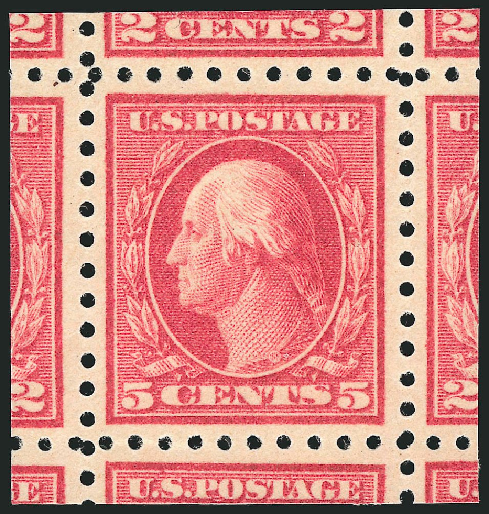 Cost of US Stamp Scott Catalogue 467: 1917 5c Washington Perf 10 error. Robert Siegel Auction Galleries, Jun 2015, Sale 1106, Lot 3158