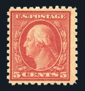 Prices of US Stamp Scott #467: 5c 1917 Washington Perf 10 error. Harmer-Schau Auction Galleries, Aug 2015, Sale 106, Lot 1839