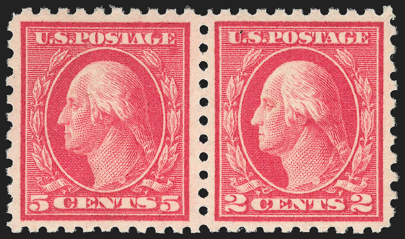 Values of US Stamps Scott #467: 5c 1917 Washington Perf 10 error. Robert Siegel Auction Galleries, Jul 2015, Sale 1107, Lot 480