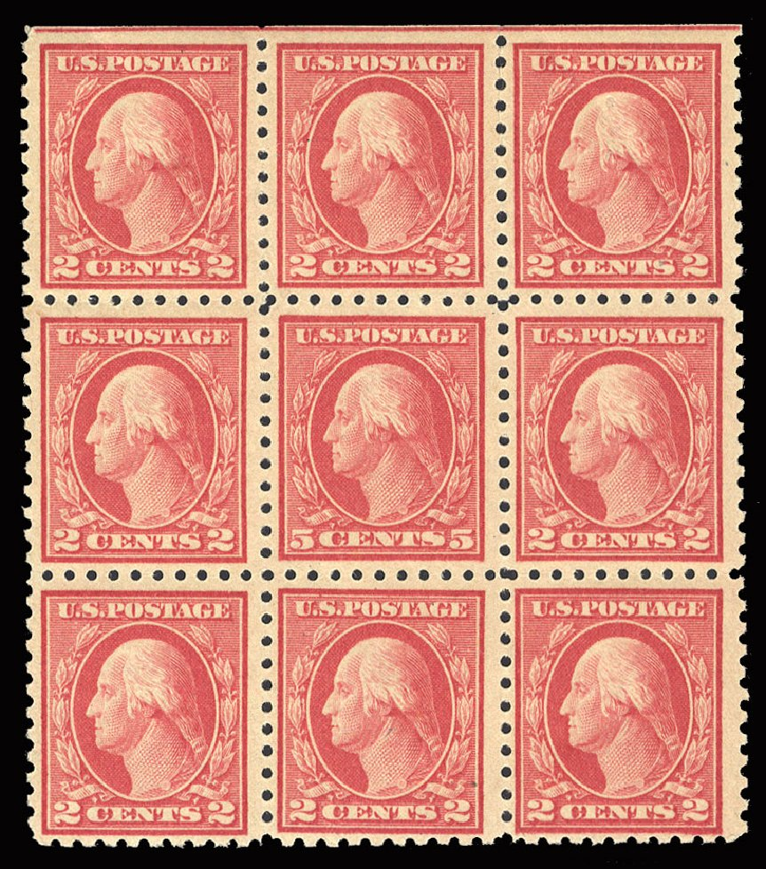Cost of US Stamp Scott Catalogue 467: 1917 5c Washington Perf 10 error. Cherrystone Auctions, May 2015, Sale 201505, Lot 41