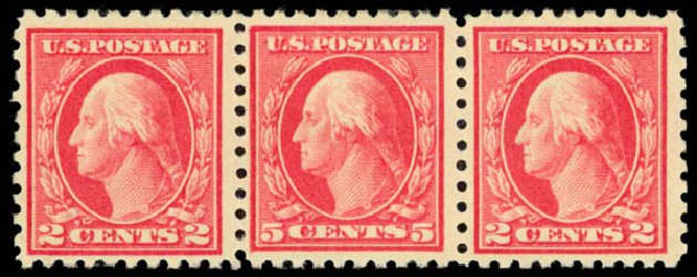 Costs of US Stamps Scott Catalogue # 467: 1917 5c Washington Perf 10 error. Daniel Kelleher Auctions, Aug 2015, Sale 672, Lot 2751