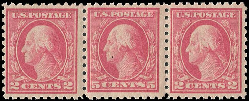 Values of US Stamp Scott Catalog # 467: 1917 5c Washington Perf 10 error. Regency-Superior, Aug 2015, Sale 112, Lot 864