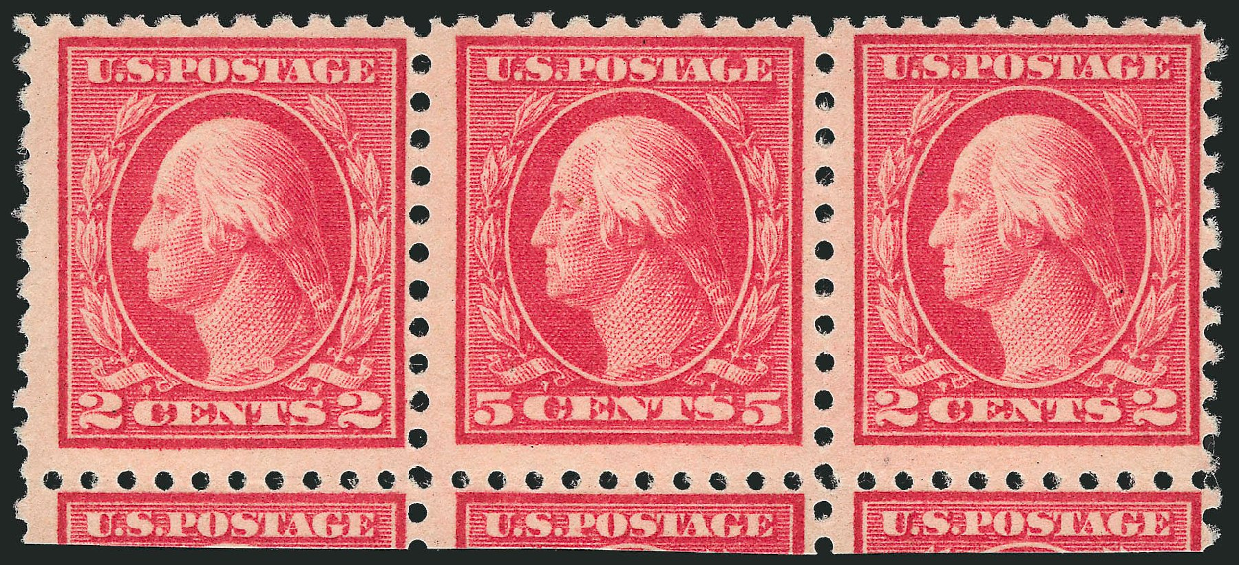 Costs of US Stamp Scott Catalogue 467: 1917 5c Washington Perf 10 error. Robert Siegel Auction Galleries, Apr 2015, Sale 1096, Lot 715