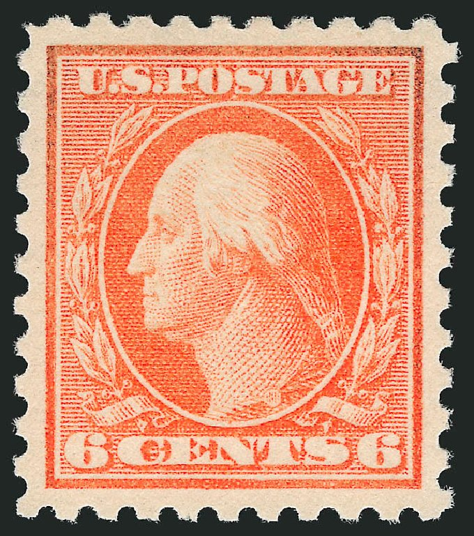 Prices of US Stamps Scott 468 - 1916 6c Washington Perf 10. Robert Siegel Auction Galleries, Dec 2013, Sale 1062, Lot 667