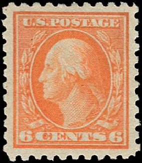 US Stamp Value Scott Catalogue #468: 6c 1916 Washington Perf 10. Regency-Superior, Nov 2014, Sale 108, Lot 879