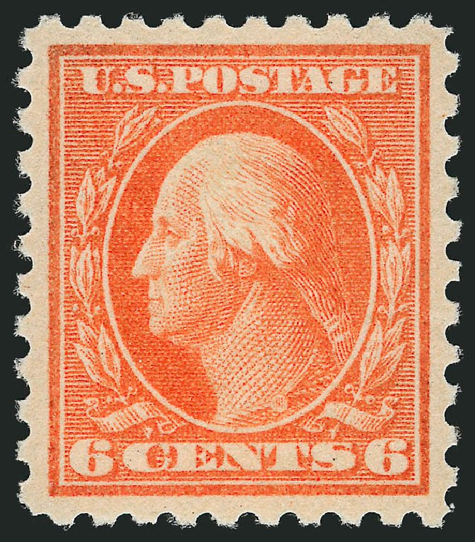 Cost of US Stamps Scott 468 - 6c 1916 Washington Perf 10. Robert Siegel Auction Galleries, Feb 2015, Sale 1092, Lot 1339