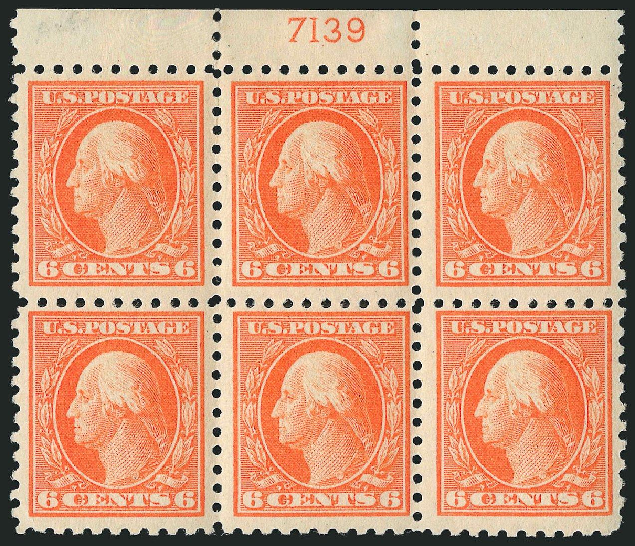 US Stamps Values Scott Cat. # 468: 6c 1916 Washington Perf 10. Robert Siegel Auction Galleries, Apr 2015, Sale 1096, Lot 719