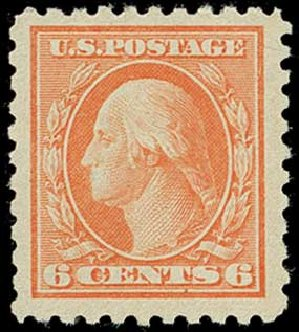 Costs of US Stamp Scott Catalogue # 468 - 1916 6c Washington Perf 10. H.R. Harmer, Jun 2015, Sale 3007, Lot 3340