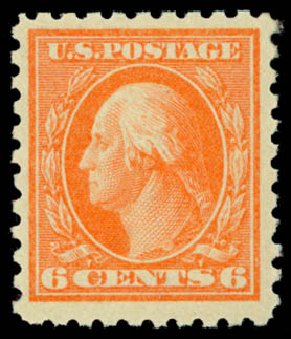 Cost of US Stamp Scott Catalog # 468: 1916 6c Washington Perf 10. Daniel Kelleher Auctions, Dec 2014, Sale 661, Lot 381