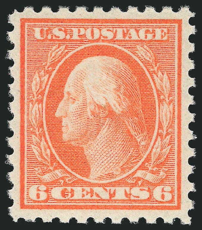 Price of US Stamp Scott Catalog # 468 - 1916 6c Washington Perf 10. Robert Siegel Auction Galleries, Dec 2014, Sale 1090, Lot 1535