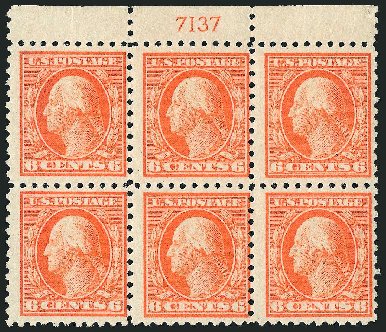 Cost of US Stamp Scott Cat. 468 - 1916 6c Washington Perf 10. Robert Siegel Auction Galleries, Jul 2014, Sale 1077, Lot 282