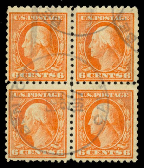 Value of US Stamps Scott # 468: 6c 1916 Washington Perf 10. Daniel Kelleher Auctions, Sep 2014, Sale 655, Lot 516