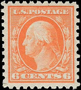 Prices of US Stamps Scott Catalogue #468 - 1916 6c Washington Perf 10. Regency-Superior, Aug 2015, Sale 112, Lot 866