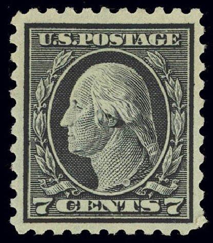 US Stamp Price Scott # 469 - 7c 1916 Washington Perf 10. Daniel Kelleher Auctions, Feb 2013, Sale 634, Lot 297