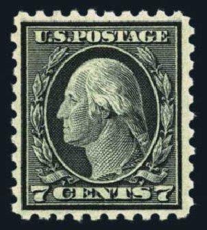 Values of US Stamps Scott # 469 - 1916 7c Washington Perf 10. Harmer-Schau Auction Galleries, Aug 2014, Sale 102, Lot 2034