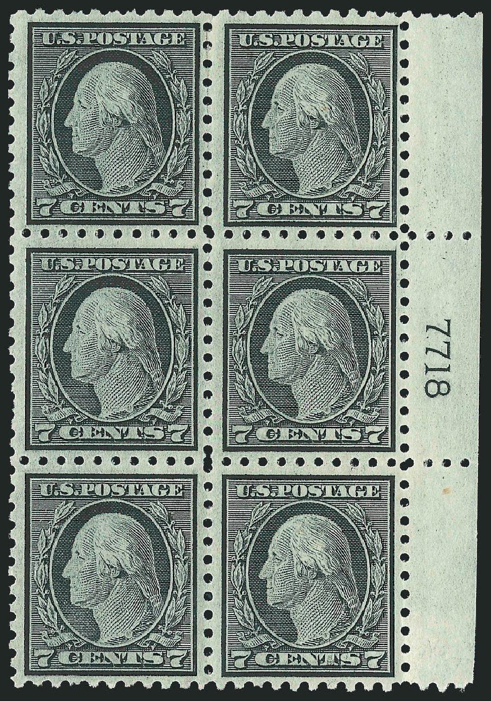 US Stamps Value Scott Catalogue # 469 - 1916 7c Washington Perf 10. Robert Siegel Auction Galleries, Jul 2014, Sale 1077, Lot 284