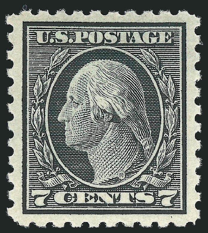 Values of US Stamps Scott Cat. #469: 1916 7c Washington Perf 10. Robert Siegel Auction Galleries, Mar 2013, Sale 1040, Lot 1853