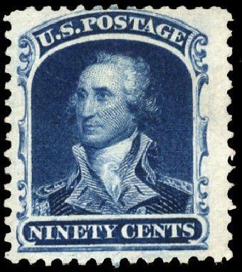 Prices of US Stamps Scott 47: 90c 1875 Washington Reprint. Cherrystone Auctions, Apr 2010, Sale 201004, Lot 100