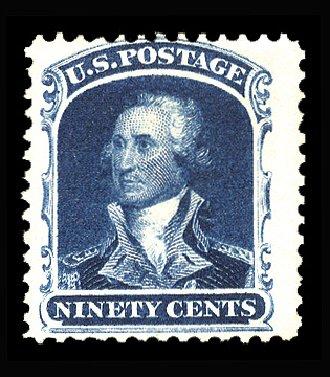 Value of US Stamps Scott 47: 90c 1875 Washington Reprint. Cherrystone Auctions, Apr 2014, Sale 201404, Lot 30