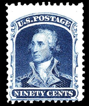 Prices of US Stamps Scott # 47 - 90c 1875 Washington Reprint. Cherrystone Auctions, Nov 2009, Sale 200911, Lot 3031