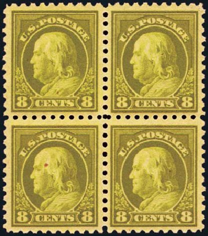 US Stamp Price Scott Catalogue #470 - 8c 1916 Franklin Perf 10. Harmer-Schau Auction Galleries, Aug 2012, Sale 94, Lot 1567