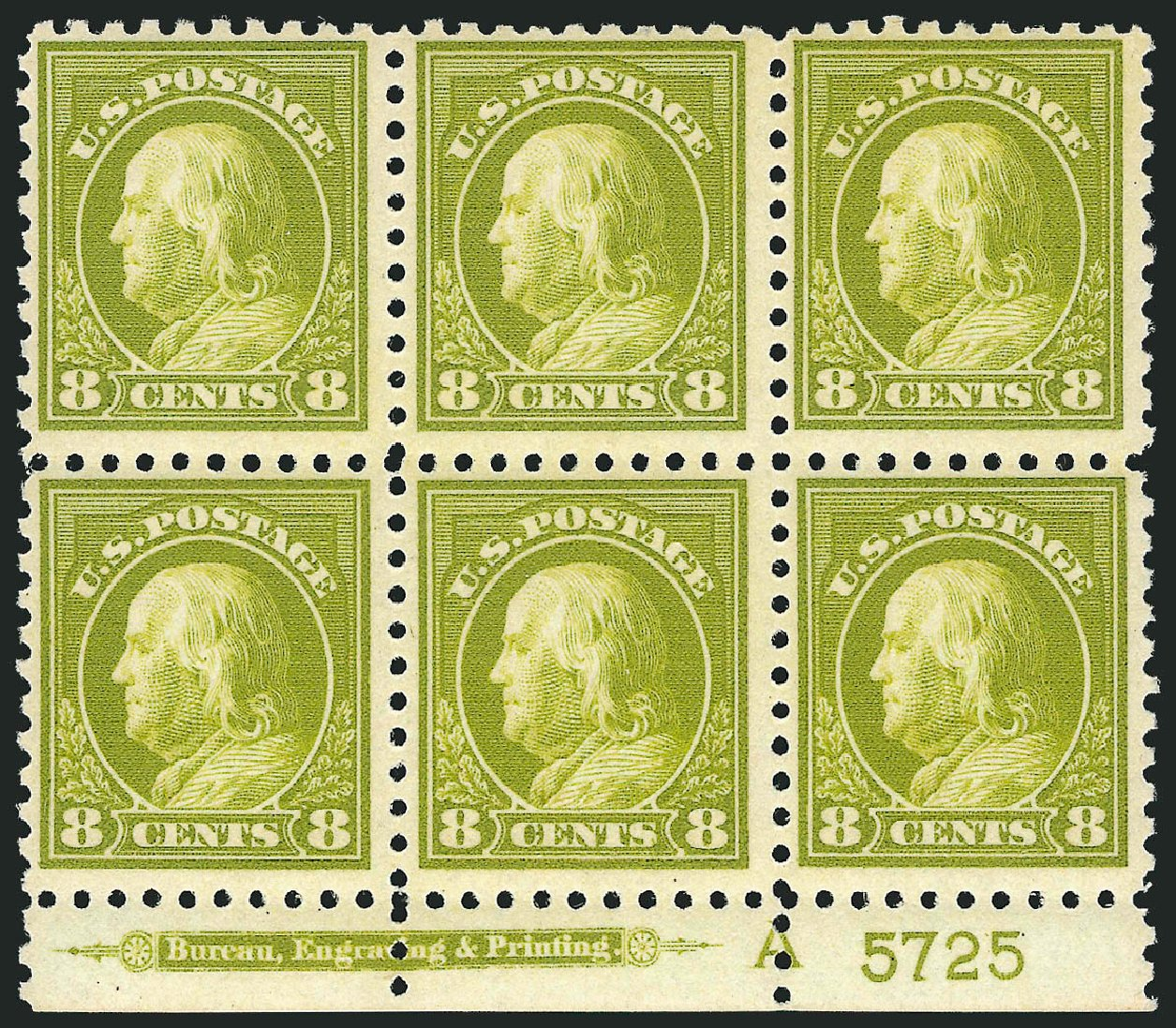 US Stamps Prices Scott Catalogue #470: 1916 8c Franklin Perf 10. Robert Siegel Auction Galleries, Mar 2014, Sale 1067, Lot 1557