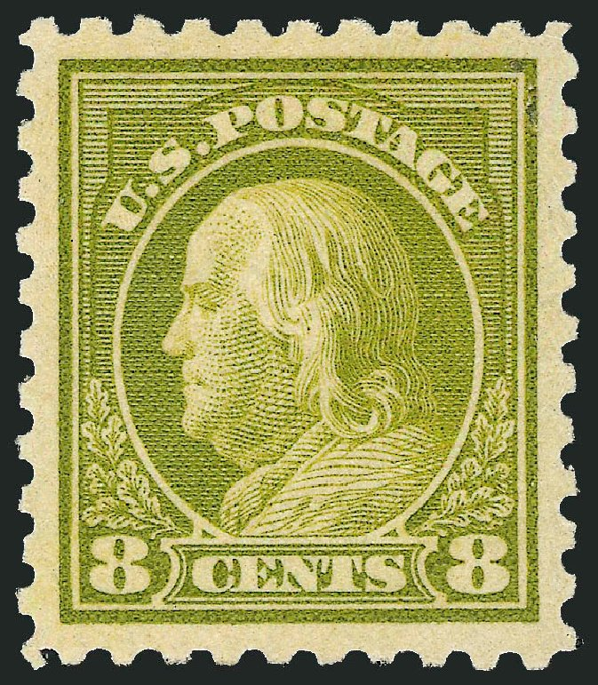 Value of US Stamps Scott Catalogue # 470: 8c 1916 Franklin Perf 10. Robert Siegel Auction Galleries, Dec 2013, Sale 1062, Lot 668
