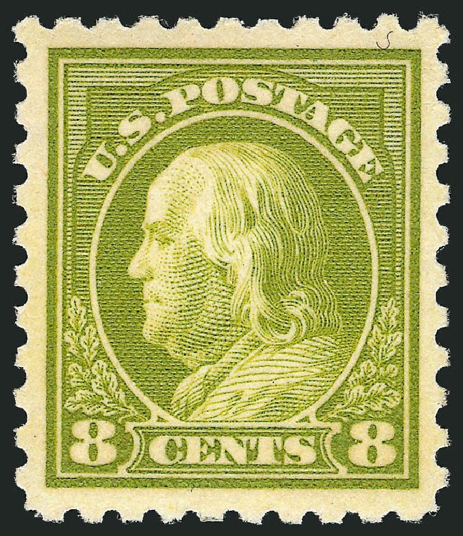 Cost of US Stamps Scott Cat. # 470: 1916 8c Franklin Perf 10. Robert Siegel Auction Galleries, Apr 2014, Sale 1068, Lot 279