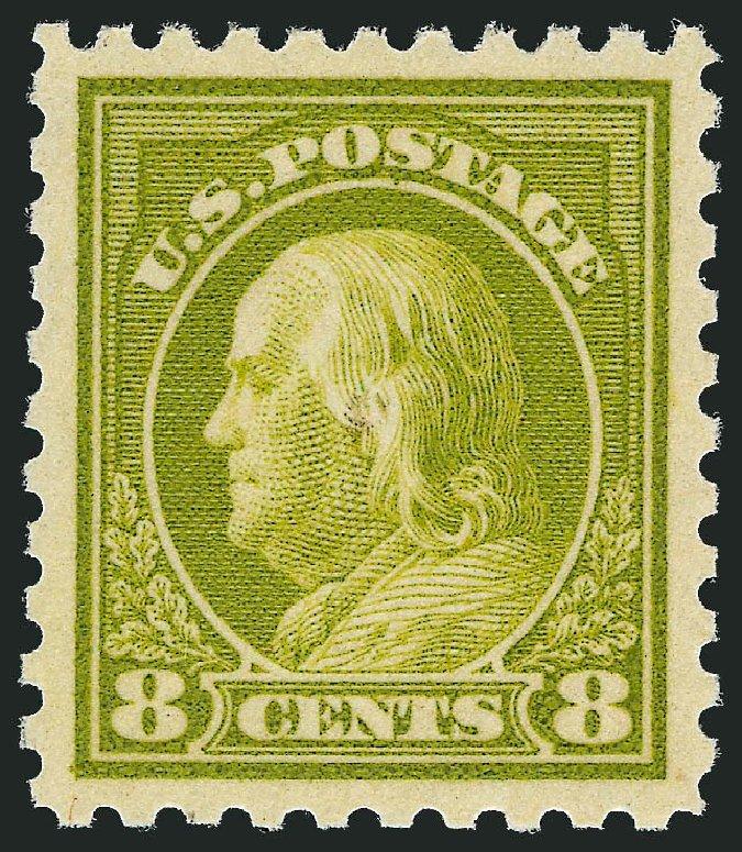 Value of US Stamp Scott Cat. # 470 - 1916 8c Franklin Perf 10. Robert Siegel Auction Galleries, Sep 2009, Sale 976, Lot 2061