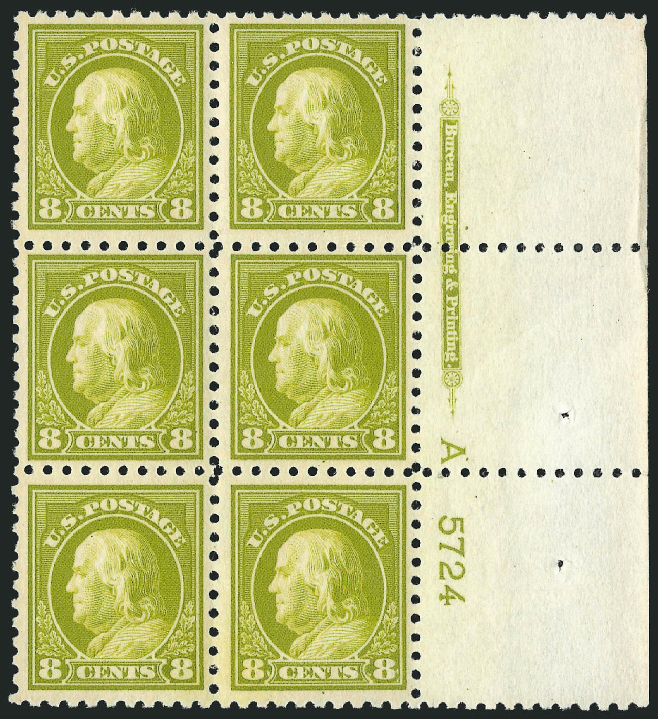 Costs of US Stamp Scott Catalog #470 - 1916 8c Franklin Perf 10. Robert Siegel Auction Galleries, Feb 2015, Sale 1093, Lot 394