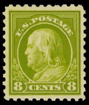 Prices of US Stamps Scott #470 - 8c 1916 Franklin Perf 10. Daniel Kelleher Auctions, Jan 2012, Sale 628, Lot 515