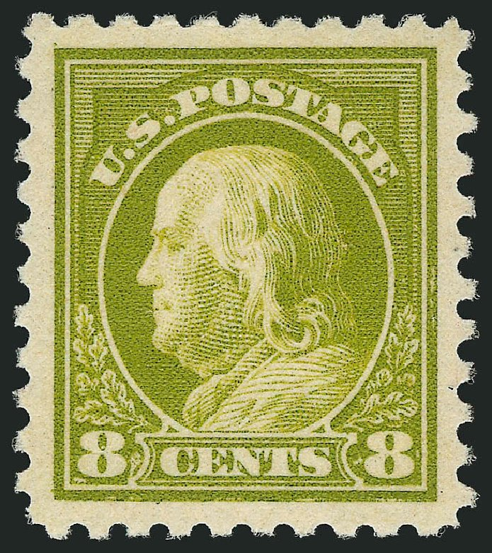 US Stamps Prices Scott Catalog # 470 - 1916 8c Franklin Perf 10. Robert Siegel Auction Galleries, Feb 2015, Sale 1093, Lot 393