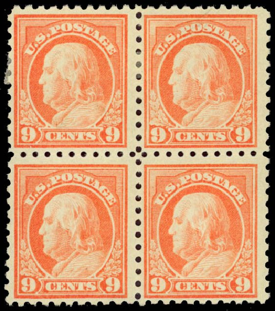 Values of US Stamp Scott Catalogue #471: 9c 1916 Franklin Perf 10. Daniel Kelleher Auctions, Jan 2015, Sale 663, Lot 1817