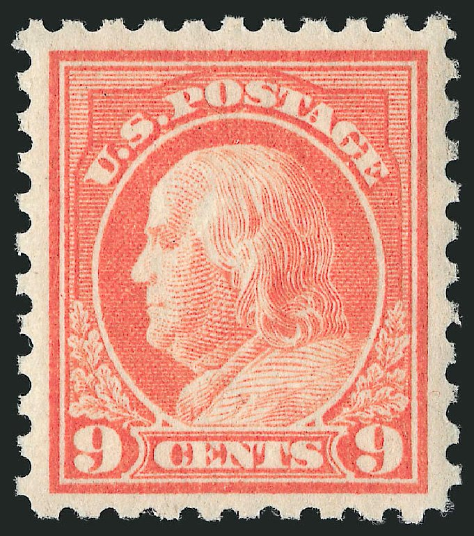 Values of US Stamps Scott # 471 - 9c 1916 Franklin Perf 10. Robert Siegel Auction Galleries, Mar 2014, Sale 1067, Lot 1558