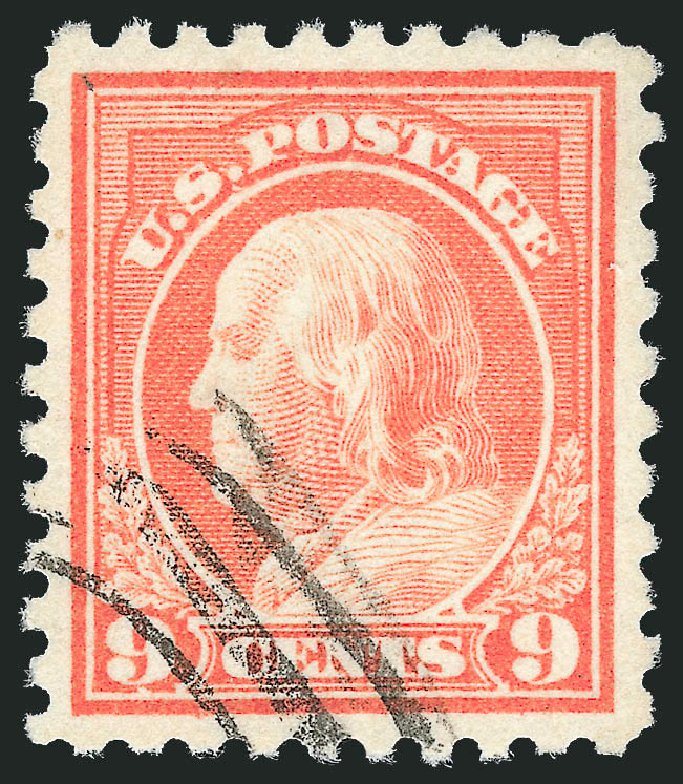 US Stamps Values Scott Catalogue # 471 - 9c 1916 Franklin Perf 10. Robert Siegel Auction Galleries, Feb 2015, Sale 1093, Lot 398