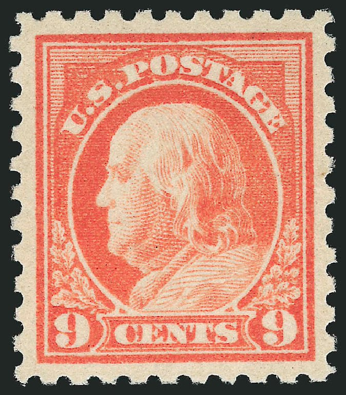 Costs of US Stamps Scott 471: 1916 9c Franklin Perf 10. Robert Siegel Auction Galleries, Dec 2013, Sale 1062, Lot 669
