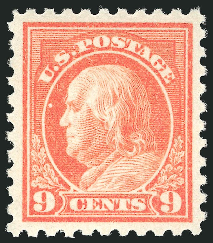 US Stamp Price Scott #471 - 1916 9c Franklin Perf 10. Robert Siegel Auction Galleries, Apr 2014, Sale 1068, Lot 280